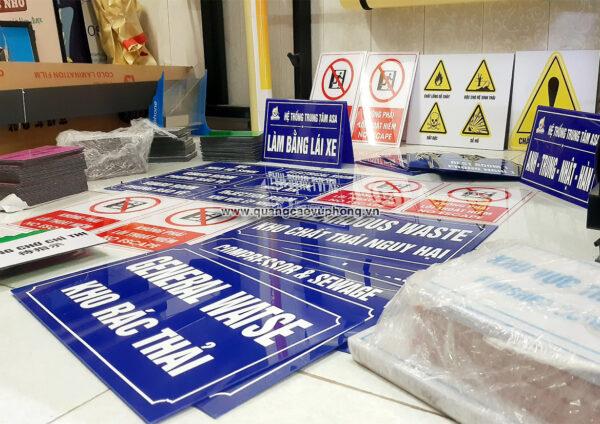 Quảng cáo VŨ PHONG chuyên làm biển phòng ban, biển tên phòng, bảng tên phòng, biển phòng ban bằng mica tại Hải Dương, Bắc Ninh, Hưng Yên, Hải Phòng ✅